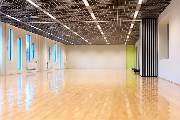 empty dance studio - dance class stock photos and pictures