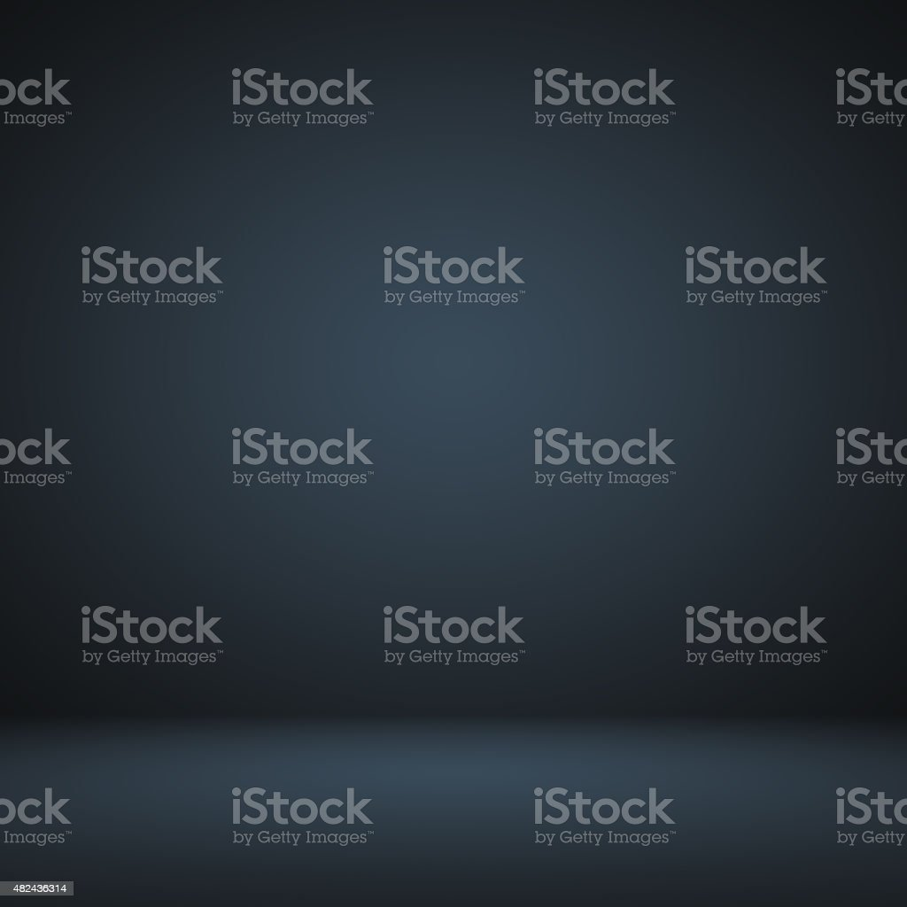 Empty Dark blue with Black vignette Studio well use stock photo