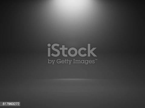 1015509020istockphoto Empty dark interior background with spot, 3d 517963272