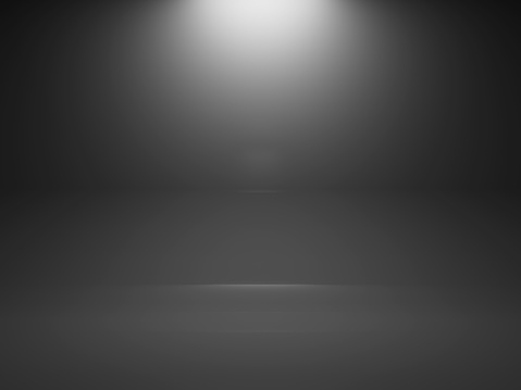 1015509020 istock photo Empty dark interior background with spot, 3d 517963272