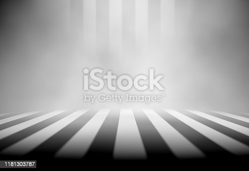 621925576 istock photo Empty dark room and fog.3d illustration 1181303787