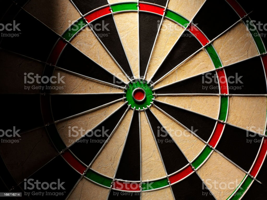 Empty Dartboard royalty-free stock photo