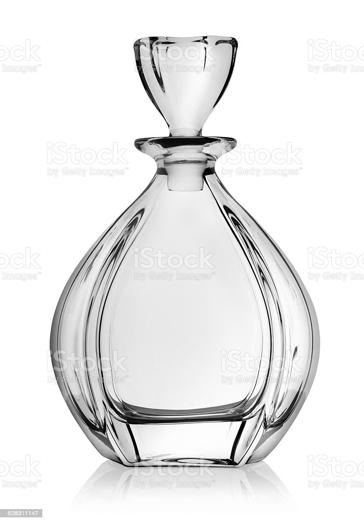 Empty decanter stock photo