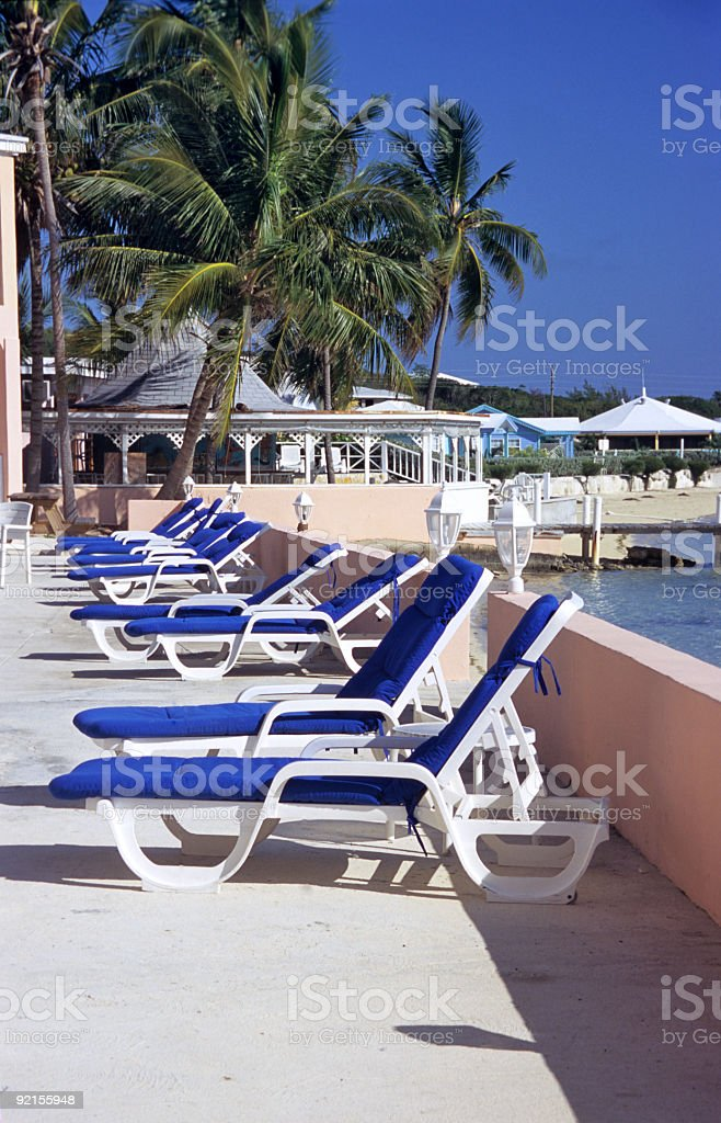 Empty Deck Chairs royalty-free stock photo