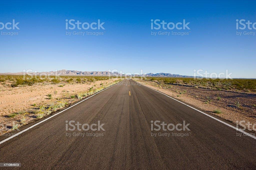 Empty Desert Highway Nevada USA royalty-free stock photo