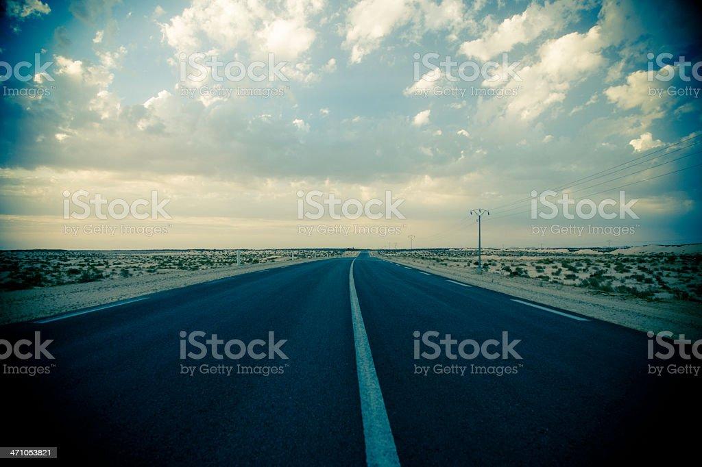 empty desert highway royalty-free stock photo