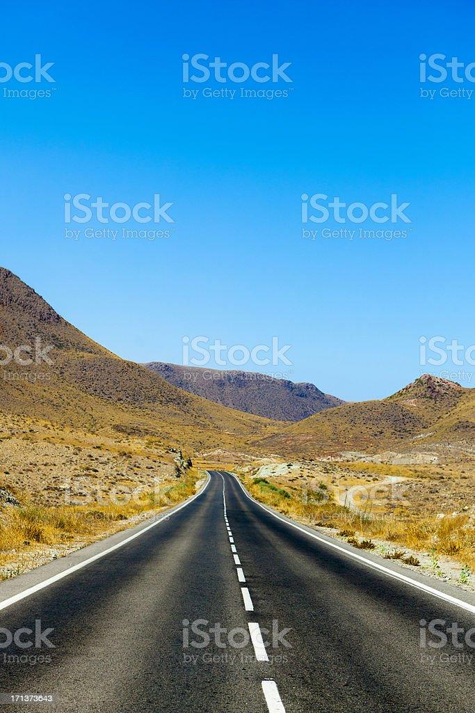Empty desert road royalty-free stock photo