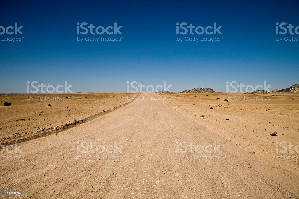 Empty Desert Road royalty-free stock photo