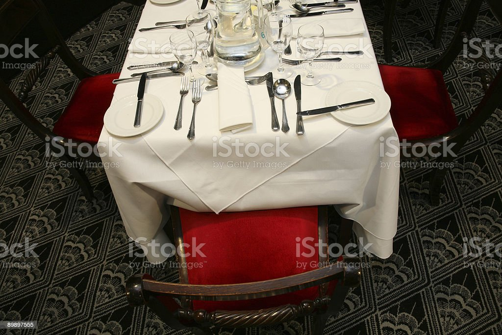 Empty Dining Table royalty-free stock photo