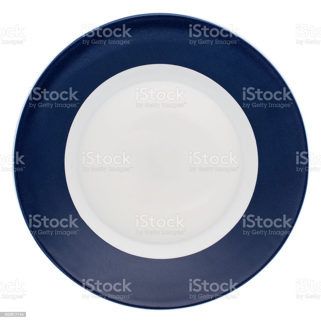 Empty dinner plate stock photo