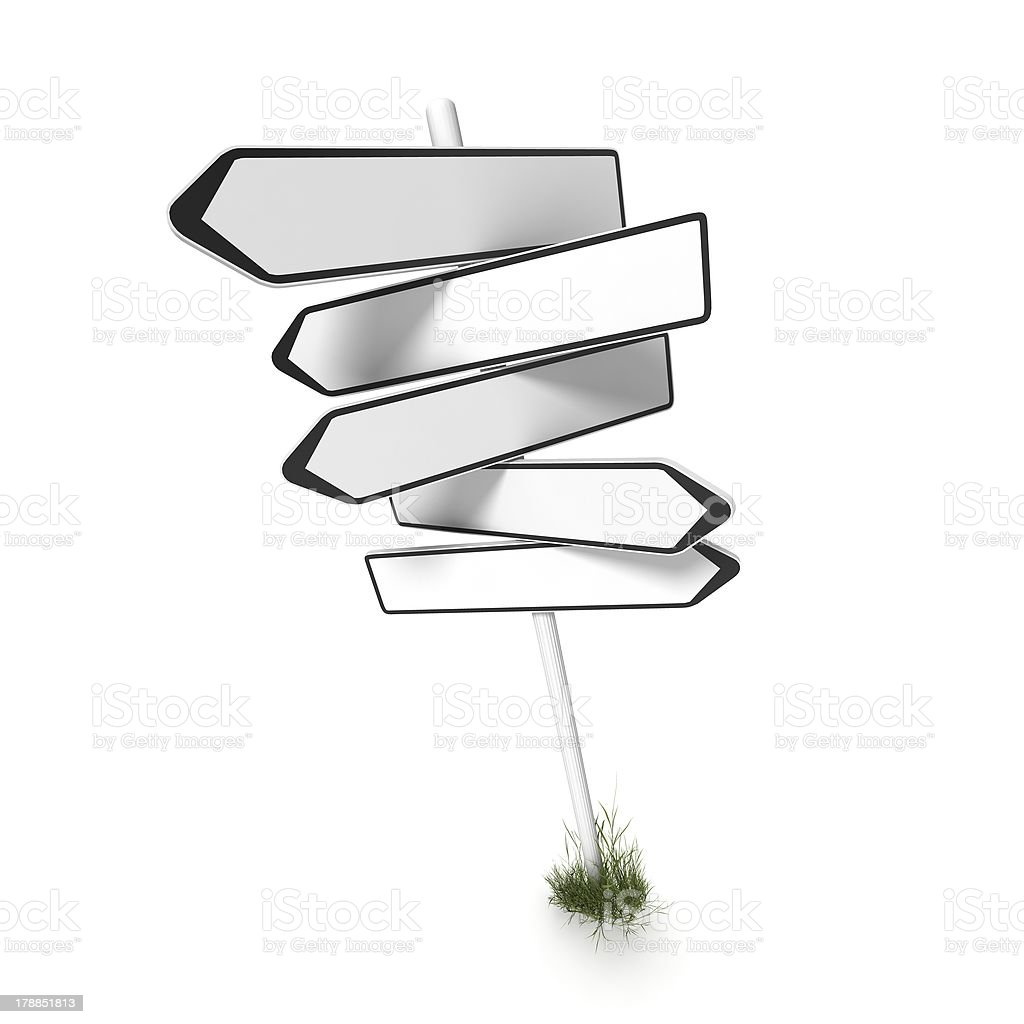 empty direction sign royalty-free stock photo
