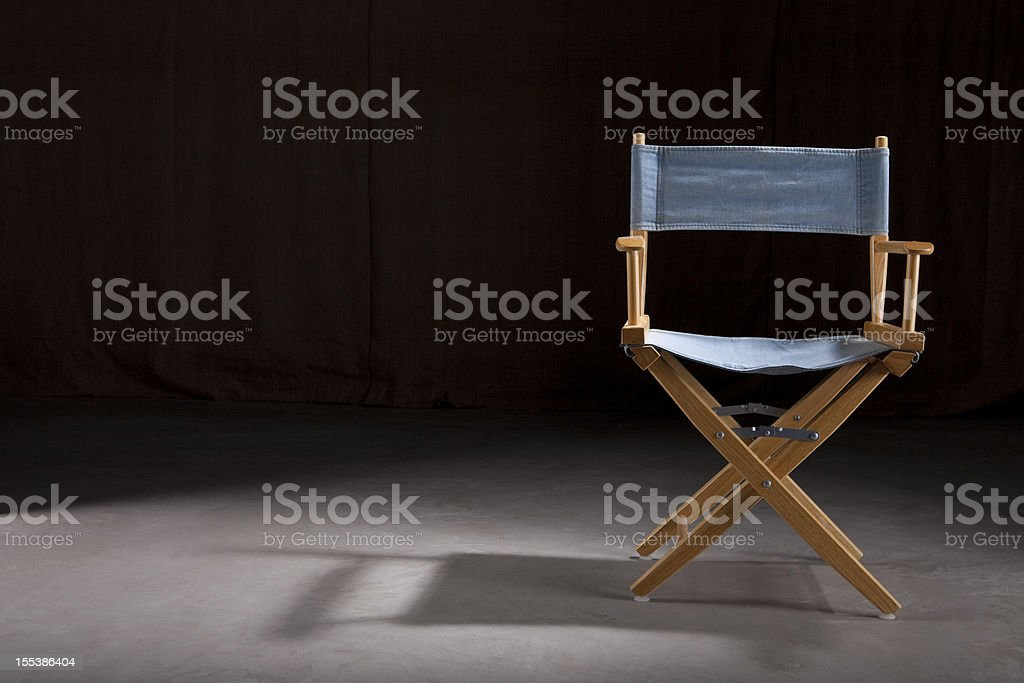 Empty Director's Chair stock photo