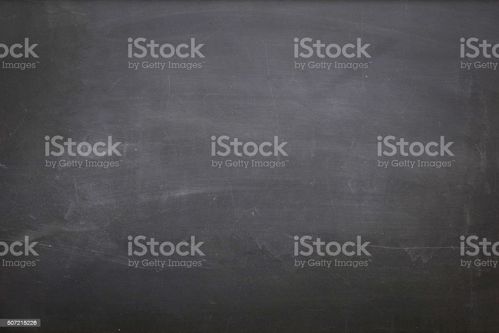 Empty Dirty Blackboard stock photo