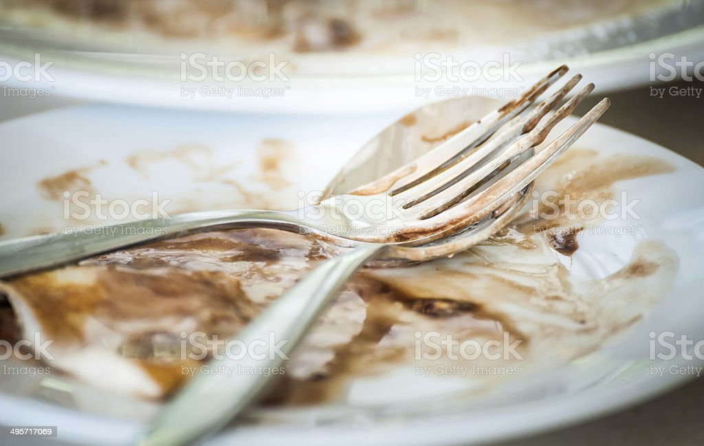 Empty dish after food stock photo