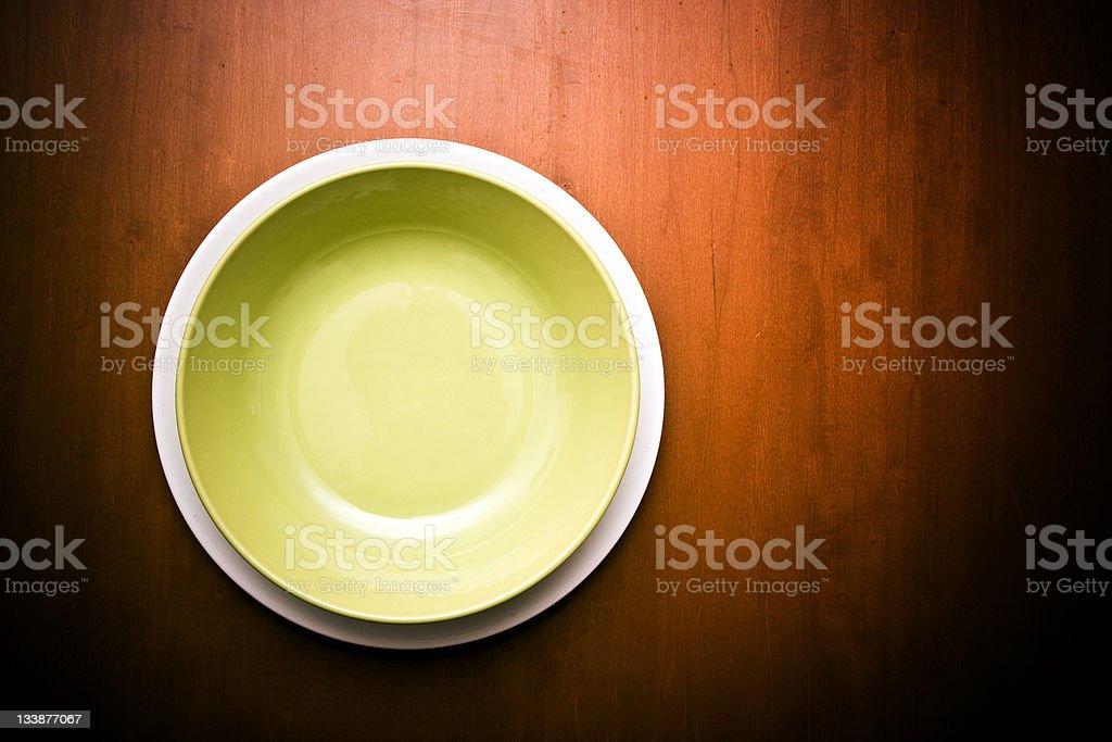 Empty dishes stock photo
