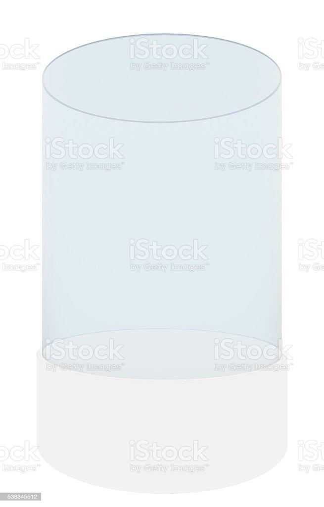 Empty display case, isolated stock photo