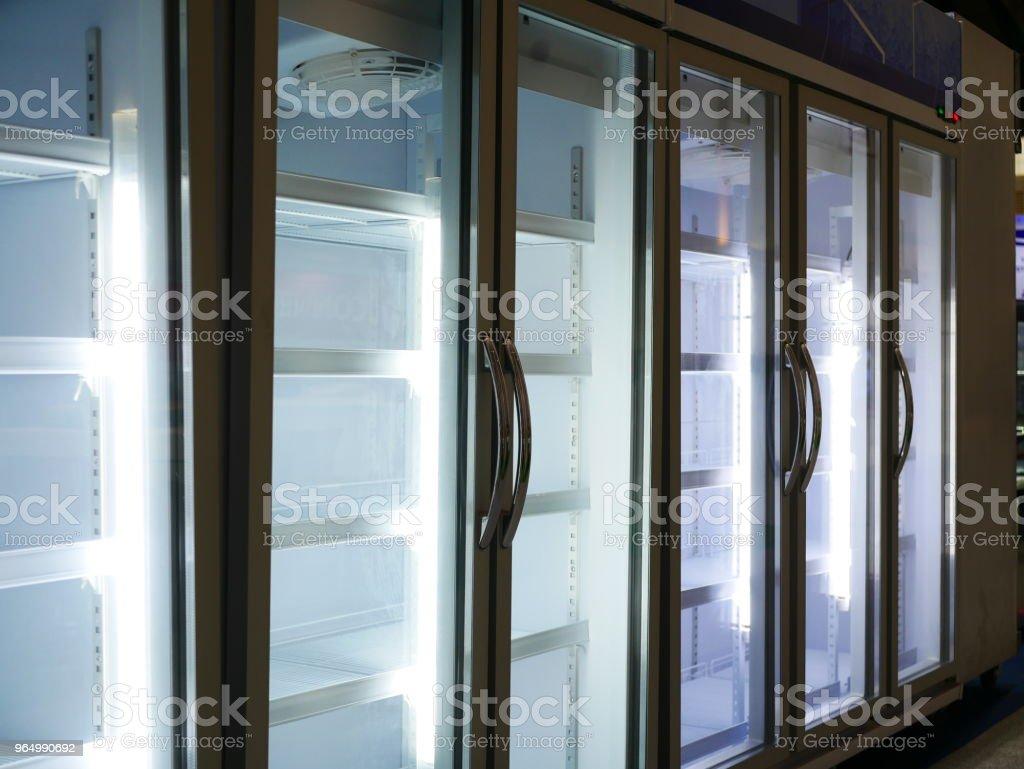 Empty display refrigerato stock photo