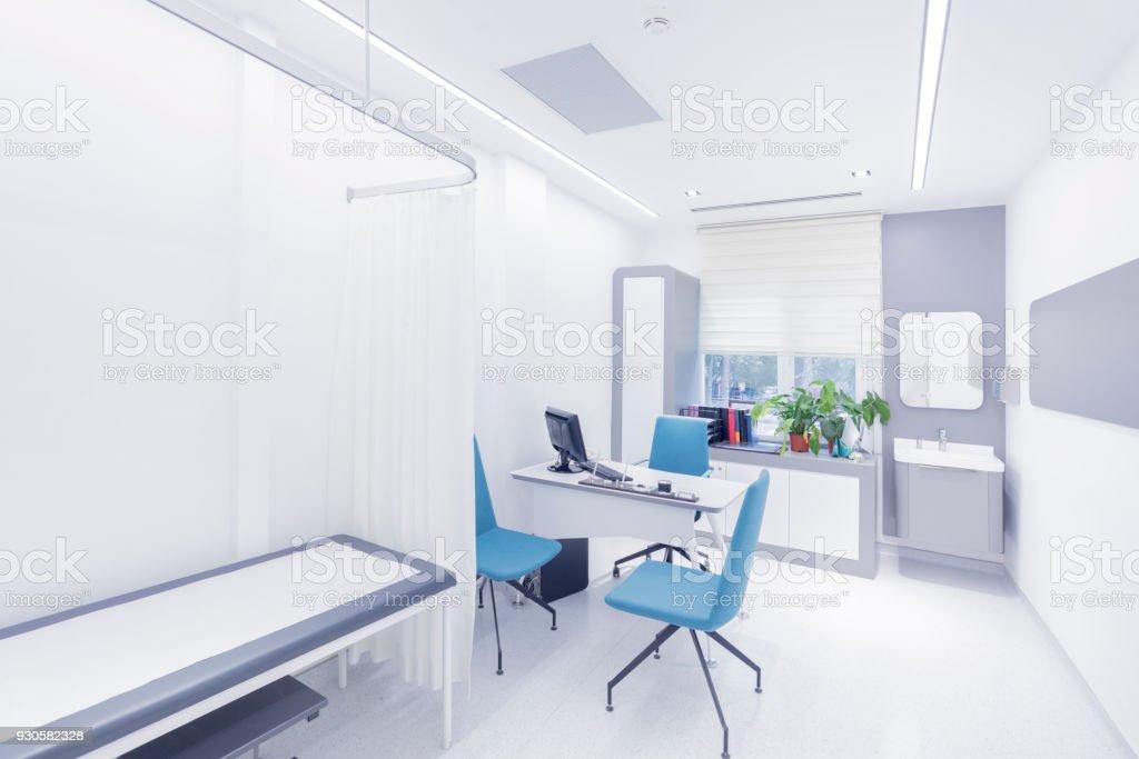 Empty doctor's examination room royalty-free stock photo