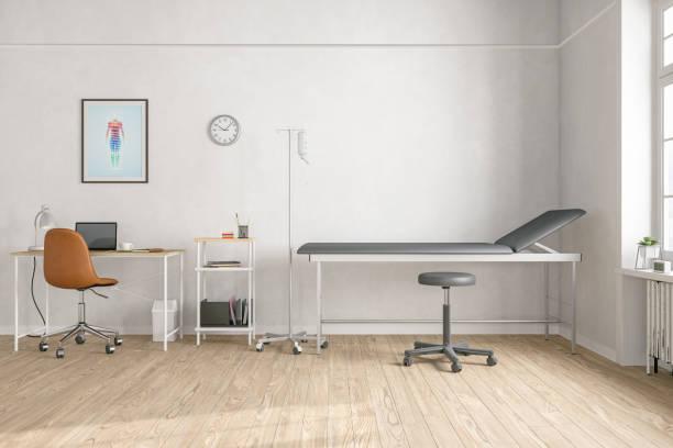 empty doctor's office - procedura medica evento foto e immagini stock