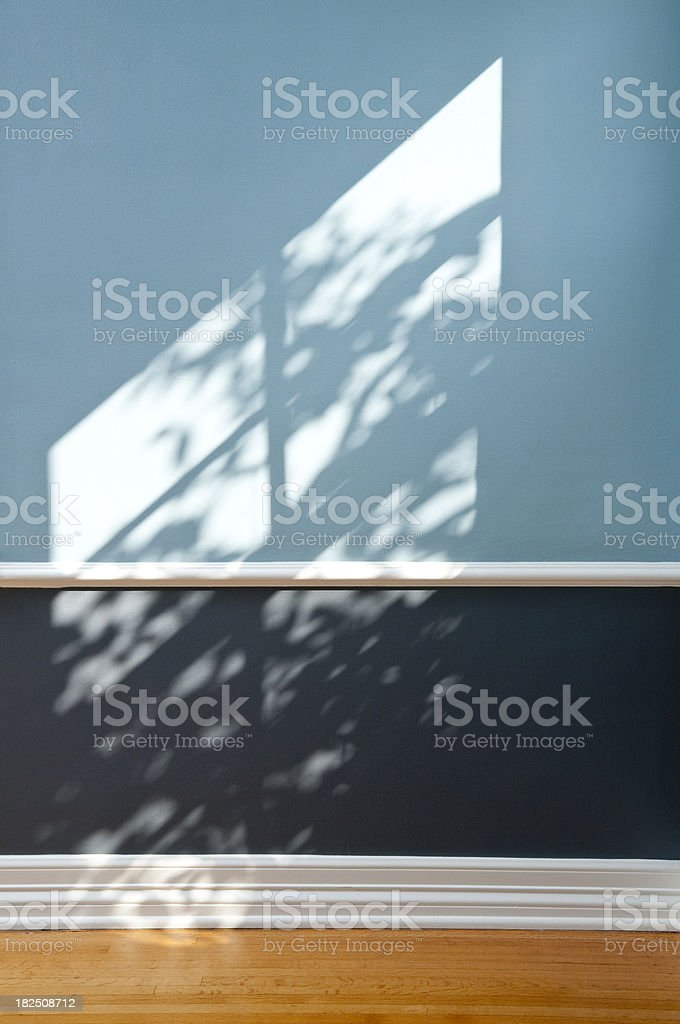 Empty Domestic Room Bathed In Sunlight royalty-free stock photo