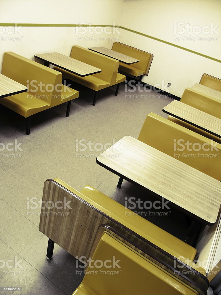 Empty Donut Shop Booths royalty-free stock photo