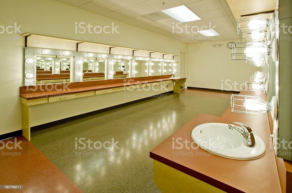 Empty Dressing Room stock photo