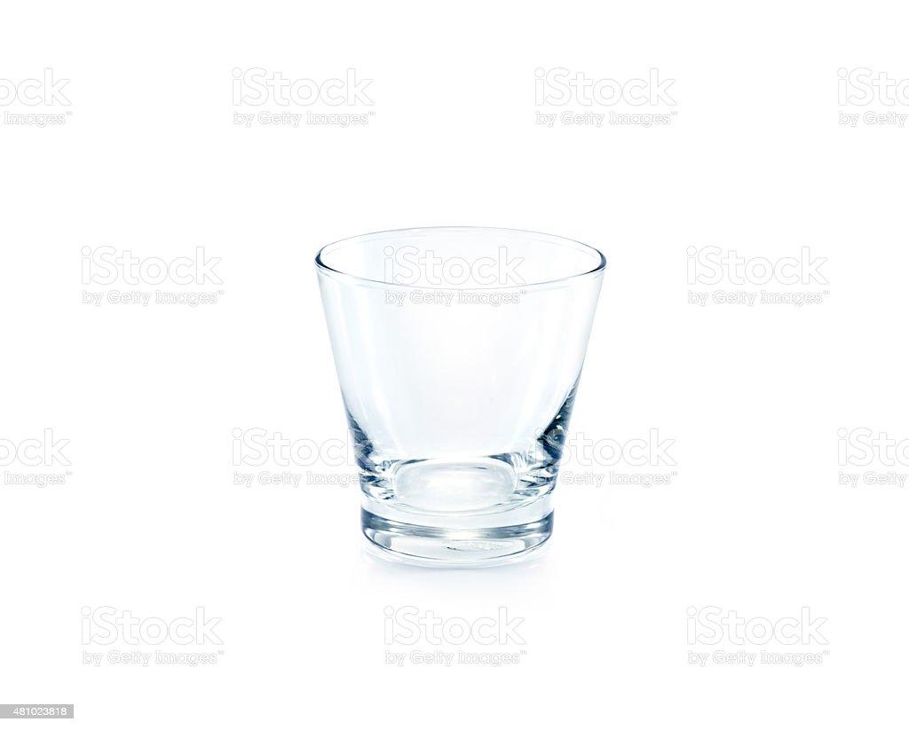 Empty drinking glass on white background stock photo
