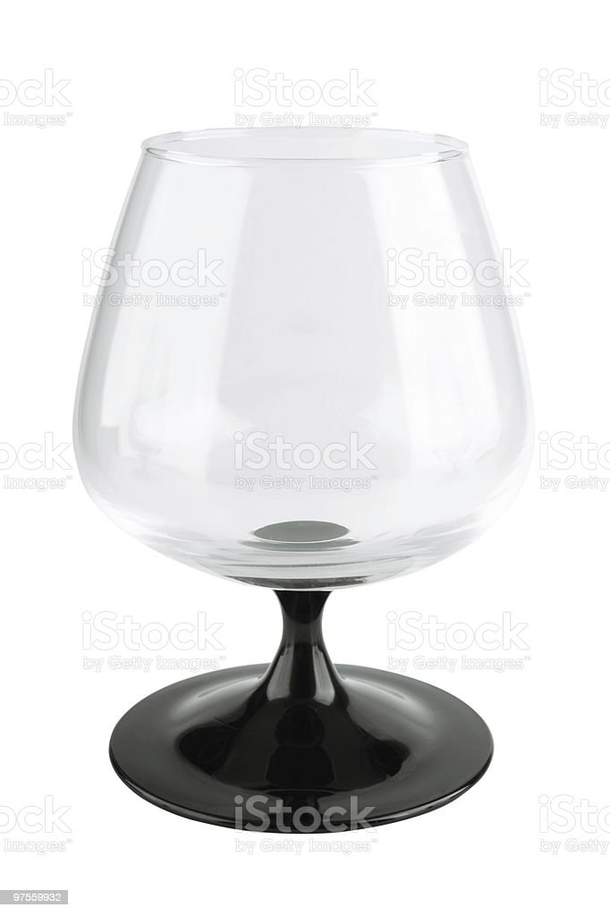 Empty drinking glass royalty-free stock photo