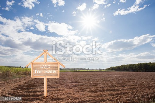 istock Empty dry cracked swamp reclamation soil, 1191142697