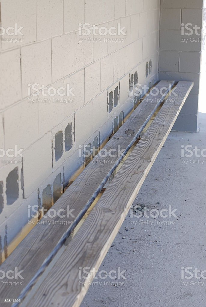 Empty Dugout stock photo