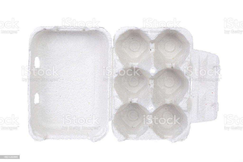 Empty egg box isolated on white stock photo