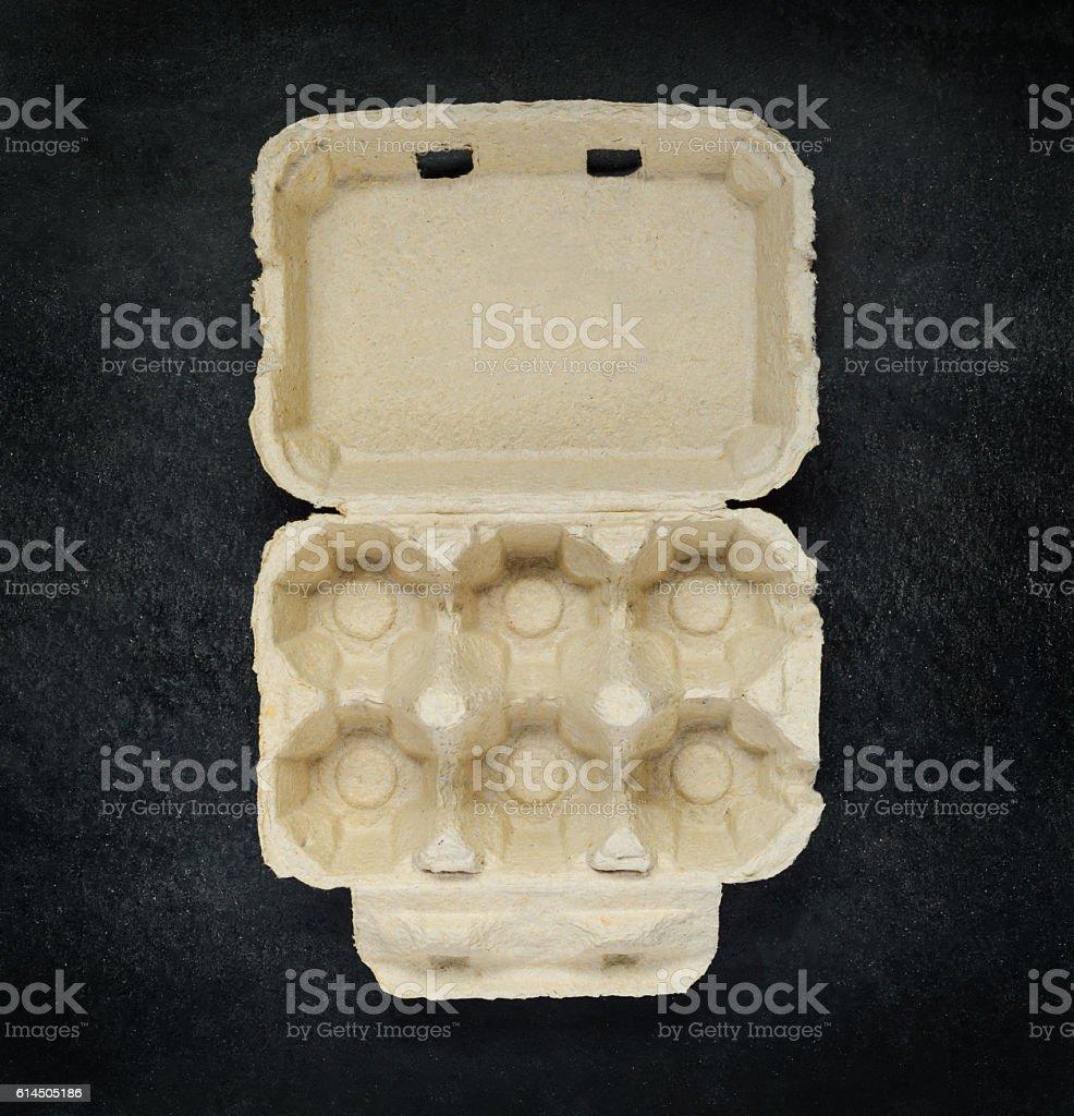 Empty Egg Carton Box stock photo