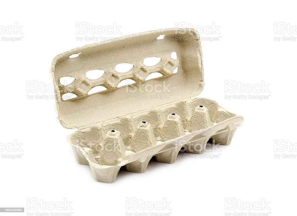 Empty egg carton stock photo