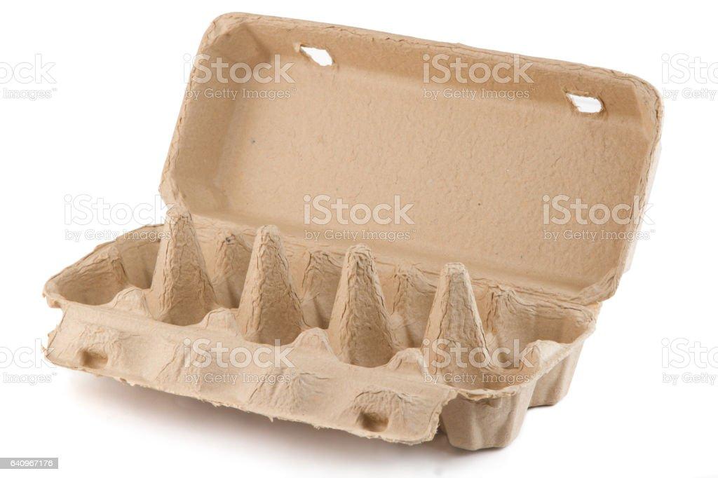 Empty Eggs carton box stock photo