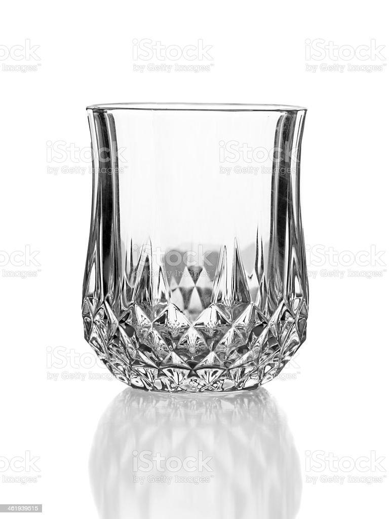 Vacío elegante de vidrio aislado en blanco - foto de stock