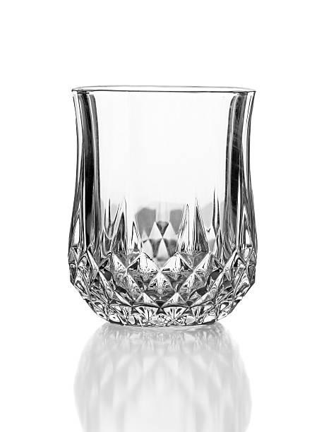 empty elegant glass isolated on white stock photo