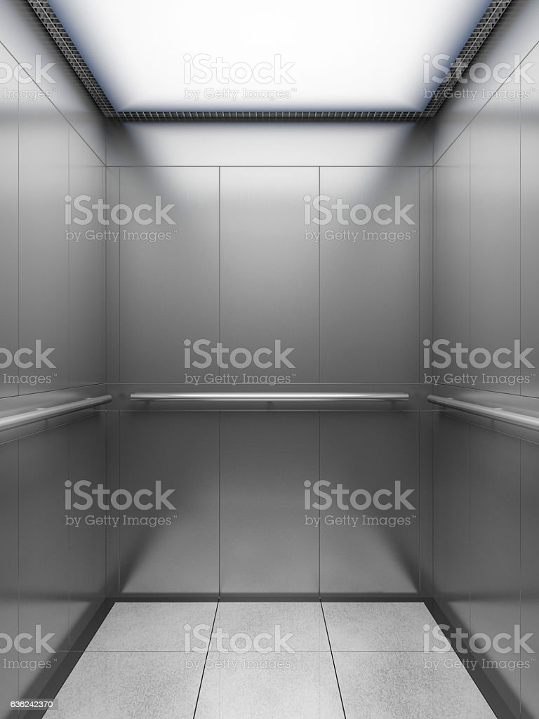 empty elevator cabin stock photo