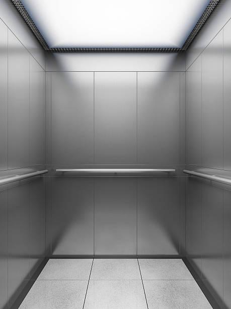 empty elevator cabin - ascensore foto e immagini stock