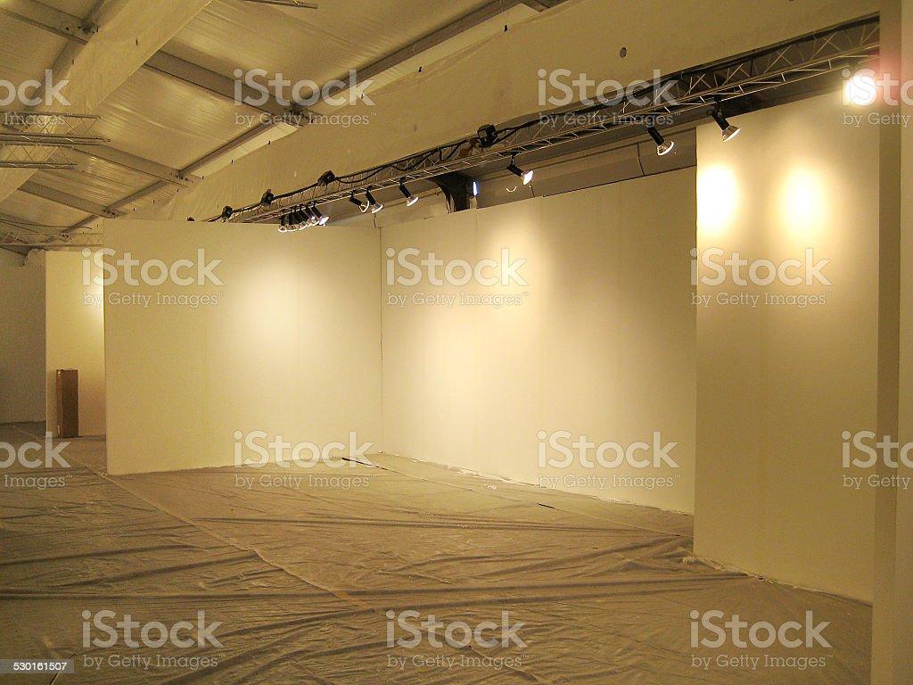 Empty Exhibition Space stock photo