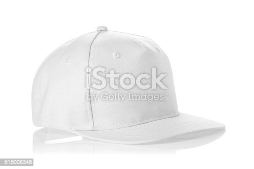 istock empty fabric cap isolated on a white background. 515006348