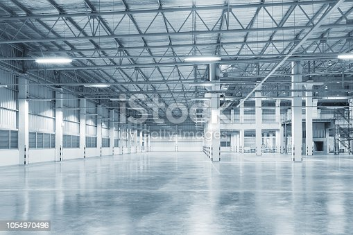 istock empty factory background 1054970496
