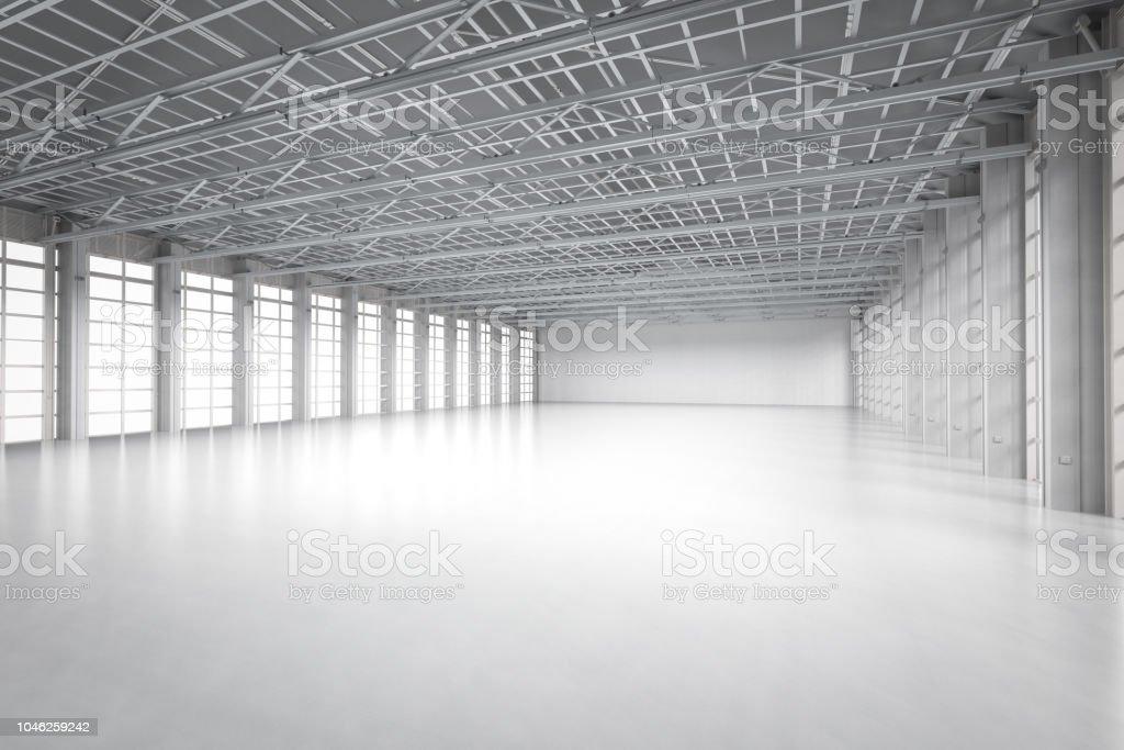 empty factory interior stock photo