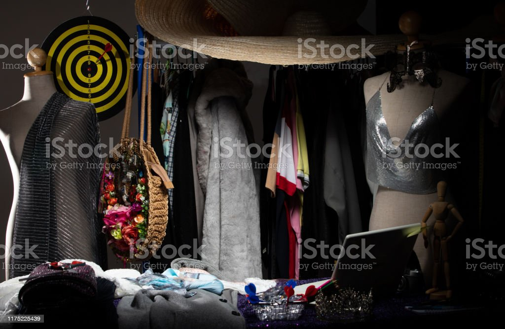 Empty Fashion Designer Working Area With Cloth Dress Stock Photo Download Image Now Istock