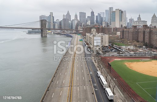 94502198 istock photo Empty FDR Drive in New York City, USA. 1216794763