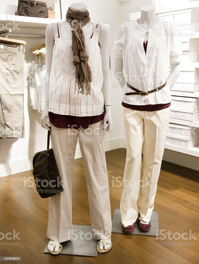 Empty female boutique royalty-free stock photo