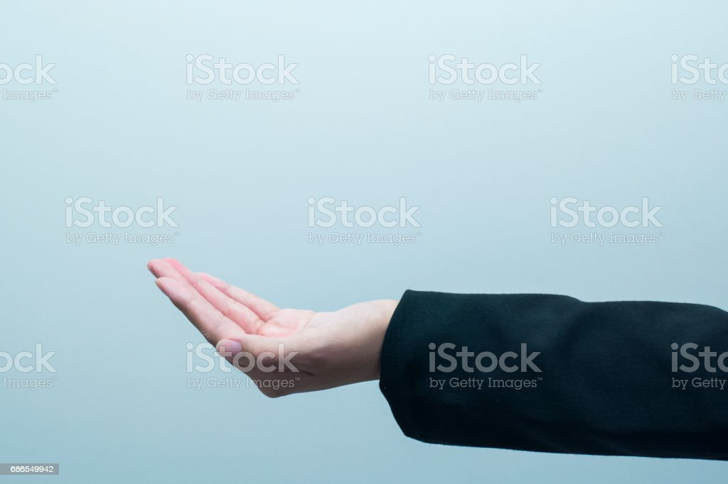 Empty female woman hand holding isolated foto stock royalty-free