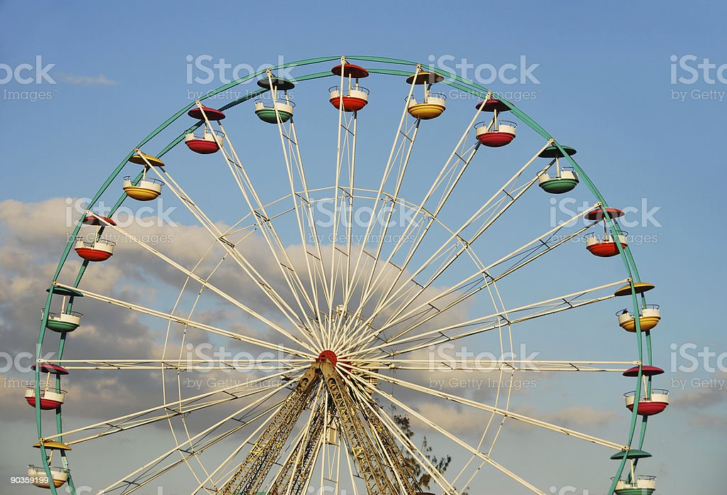 Empty Ferris wheel royalty-free stock photo