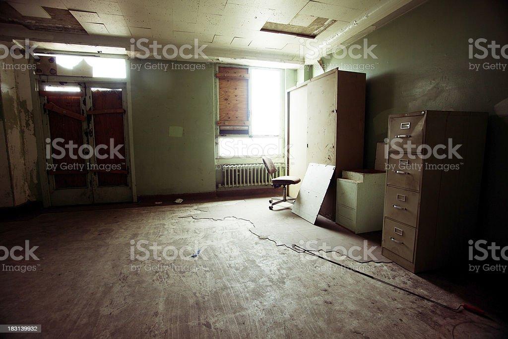 Empty filing room royalty-free stock photo