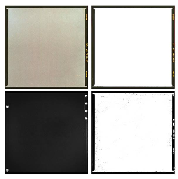 empty film scans medium format square stock photo