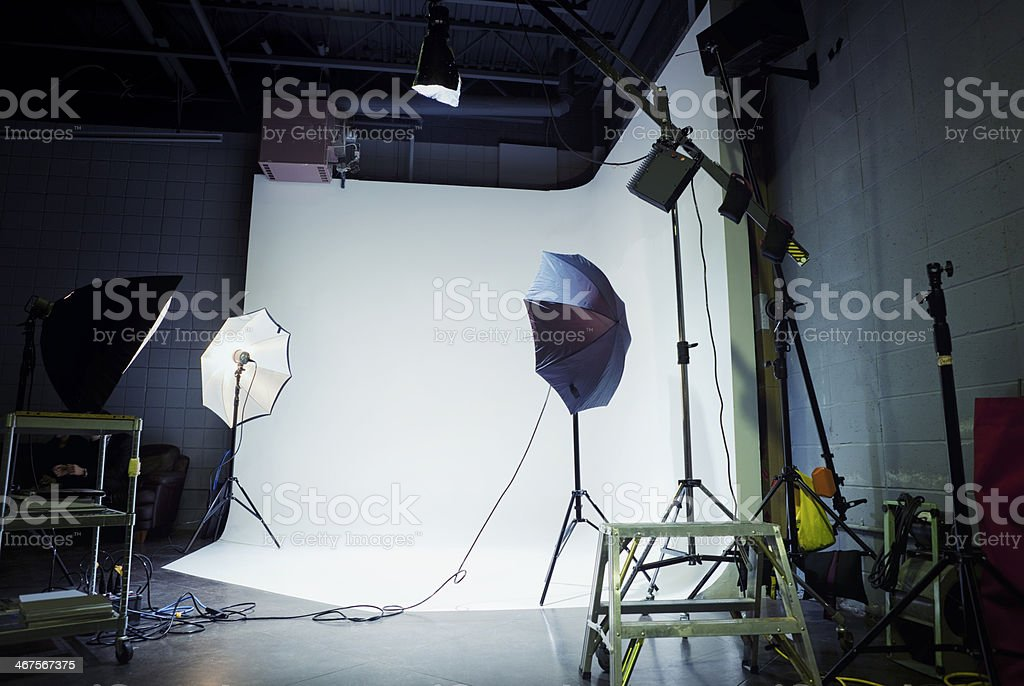 Empty Film Set stock photo